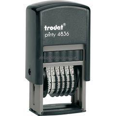 Мининумератор тродат 3,8 мм пластиковый 6-розрядный, 4836