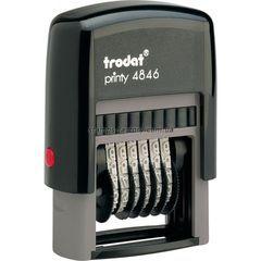 Мининумератор тродат 4 мм пластиковый 6-розрядный, 4846