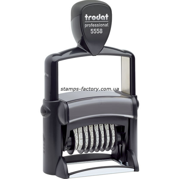 Нумератор с текстовым полем Тродат металл., 8-розрядний 5 мм, 5558/PL