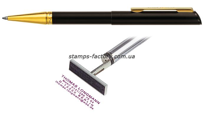 Ручка со штампом Heri 3020М, позолоченный корпус (флеш)