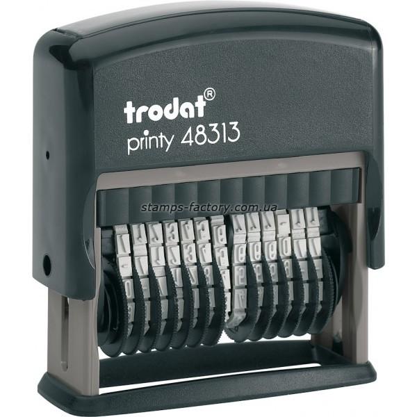 Мининумератор тродат 3,8 мм пластиковый 13-розрядный, 48313