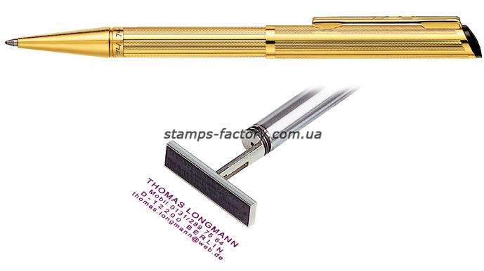 Ручка со штампом Heri 3003М, позолоченный корпус (флеш)