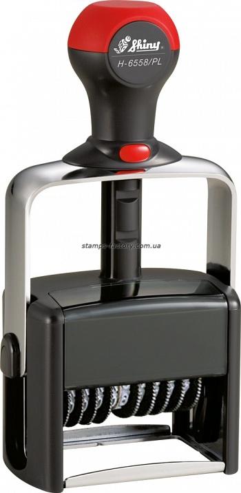 Нумератор Шайни металл., 8-розрядний 5 мм, Н-6558