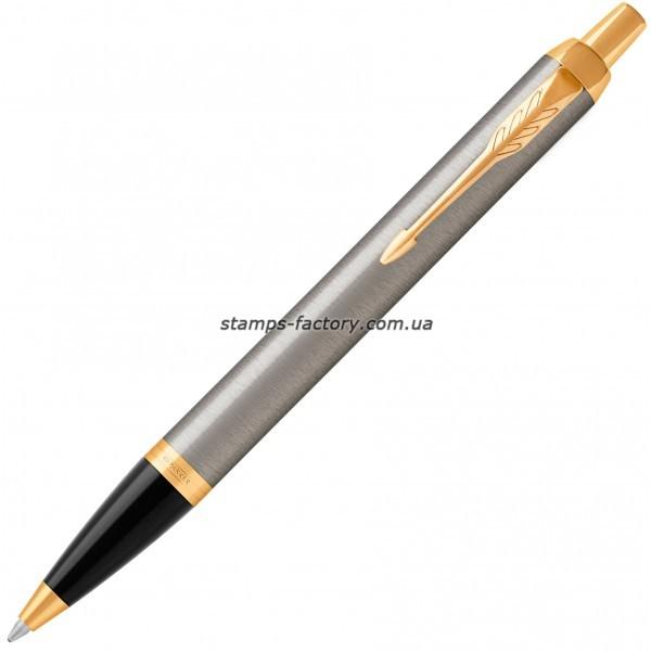 Шариковая ручка Parker IM 17 Brushed Metal GT BP 22 232