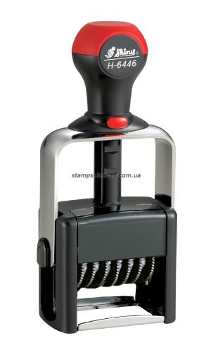 Нумератор Шайни металл., 6-розрядний 4 мм,  Н-6446
